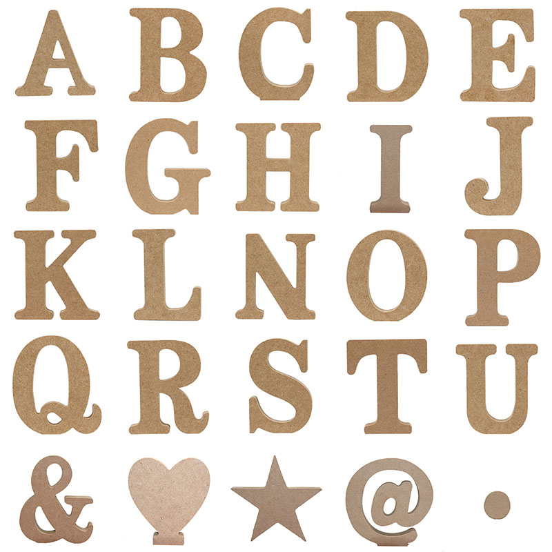 1pc 10X10CM Wooden Art Craft English Letters Alphabet Word