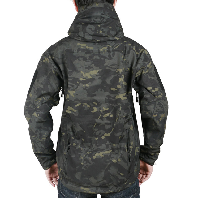 Men's Military Camouflage Fleece Jacket Tactical Hunting Gear Waterproof Military Army Coat Outdoor Jackets hunting hoodie