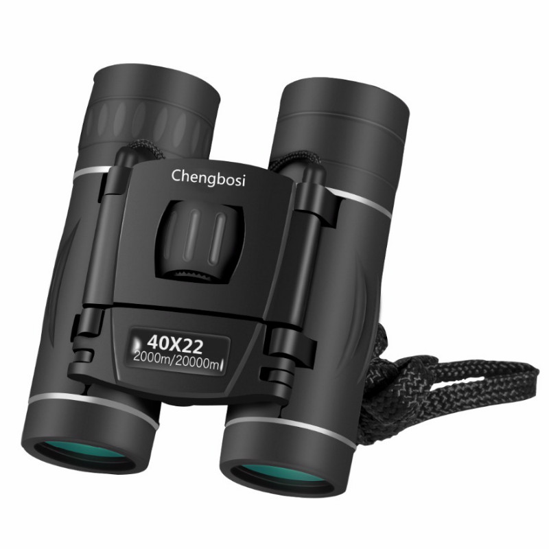 Caliente 40x22 Binocular portátil Mini telescopio Zoom gafas de campo gran portátil Mini telescopios caza HD potentes prismáticos