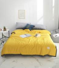 Solid Yellow Butterfly knot Bedspread Summer Quilt Tencel Blanket Comforter Bed Cover Quilting Home Textiles solid gray butterfly knot bedspread summer quilt tencel blanket comforter bed cover quilting home textiles