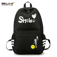 Wellvo Women Waterproof Nylon Backpacks Travel Bags Student School Bag Girl Backpacks Casual Travel Mountaineer Rucksack