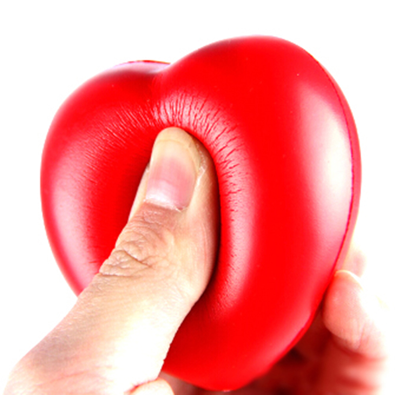 Anti-Stress Ball Toys Squeeze Relax Pressure-Relief Heart-Shaped Fun Gifts Funny 1pcs img2