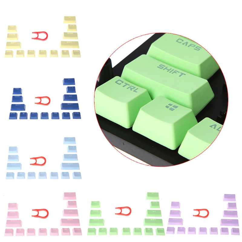 <font><b>14</b></font> <font><b>Key</b></font> <font><b>Caps</b></font> Multicolor PBT Mechanical keyboards Keycap For Cherry MX image
