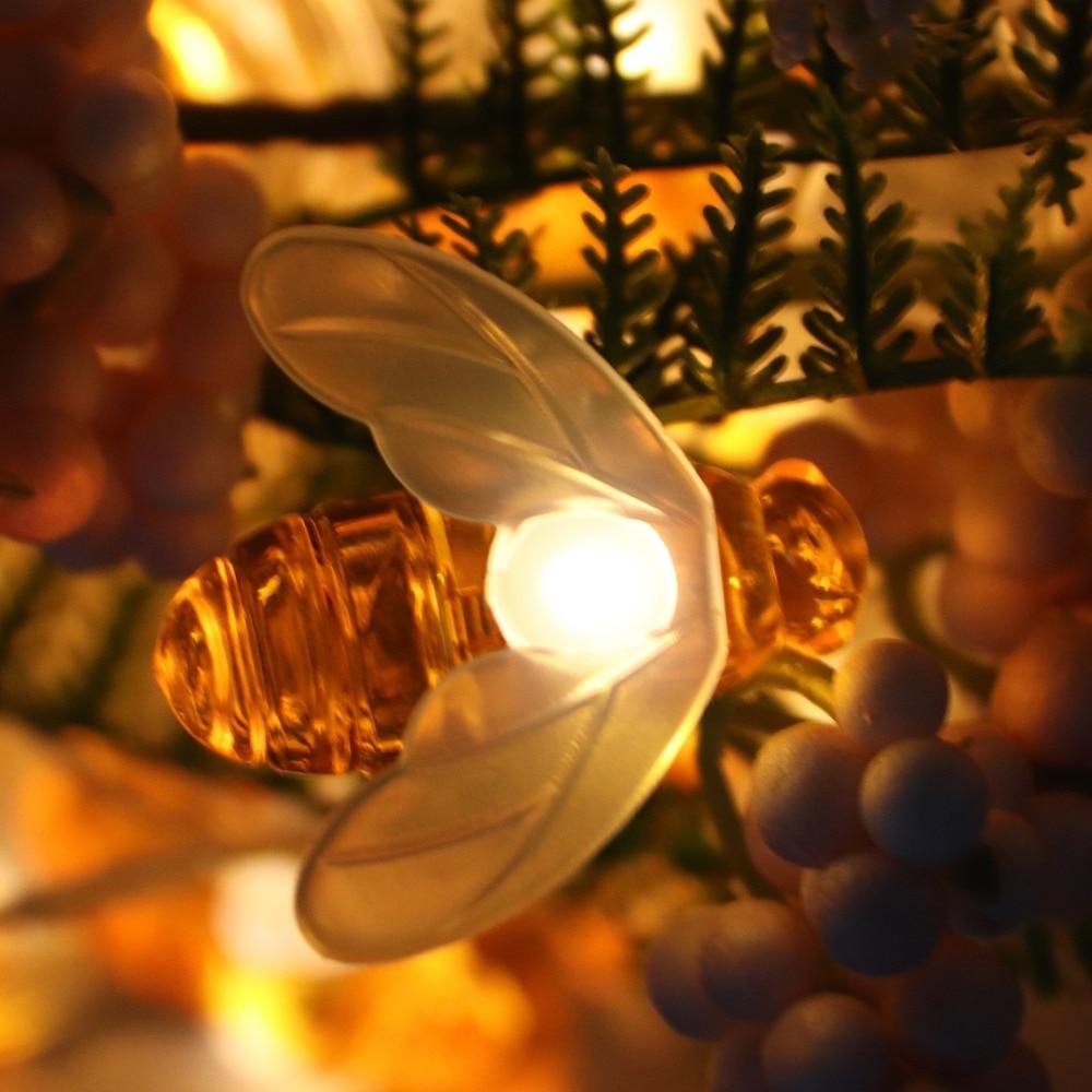 Творчески 10 LED Bee Shape Светещи Фарове - Празнично осветление - Снимка 4