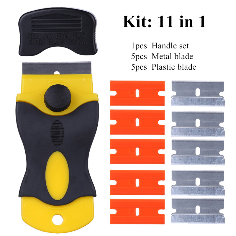 UV Glue Remover Scraper Knife Metal & Plastic Blade Set For Phone LCD Touch Screen Residue Adhesive Cleaning Repair Tool