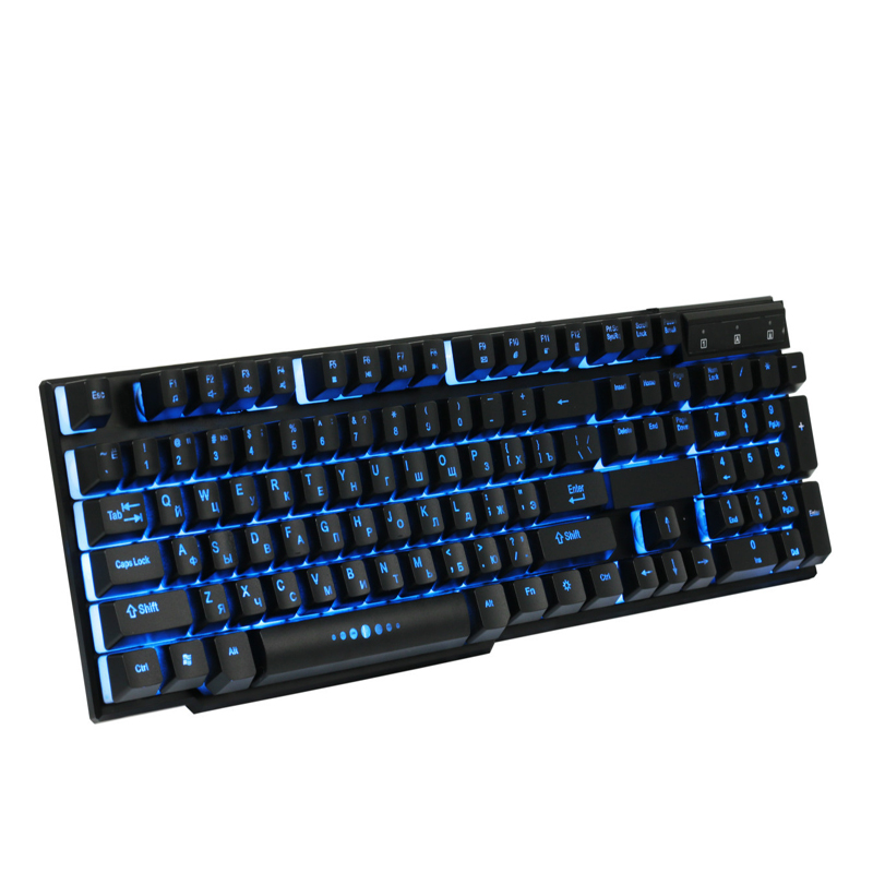 DBPOWER Russian English Gaming font b Keyboard b font Suspended Keycaps 3 Backlight Switching Teclado Gamer