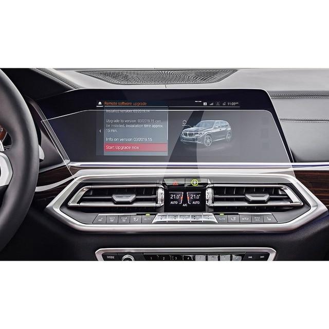 Ruiya 車用 X5 G05/X7 G07 2019 2020 12.3 インチ左ラダーナビゲーションセンタータッチディスプレイ画面の自動インテリア