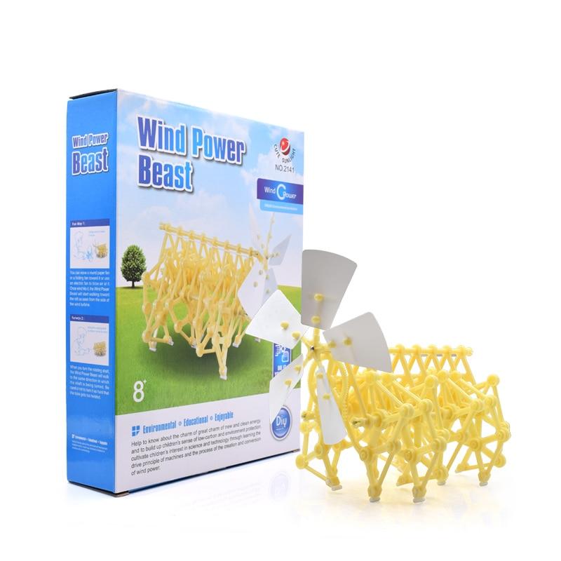 Educational Kits Wind Powered DIY Walker Robot Kit Mini Beach Creature Assembly Model Kit With Original Box