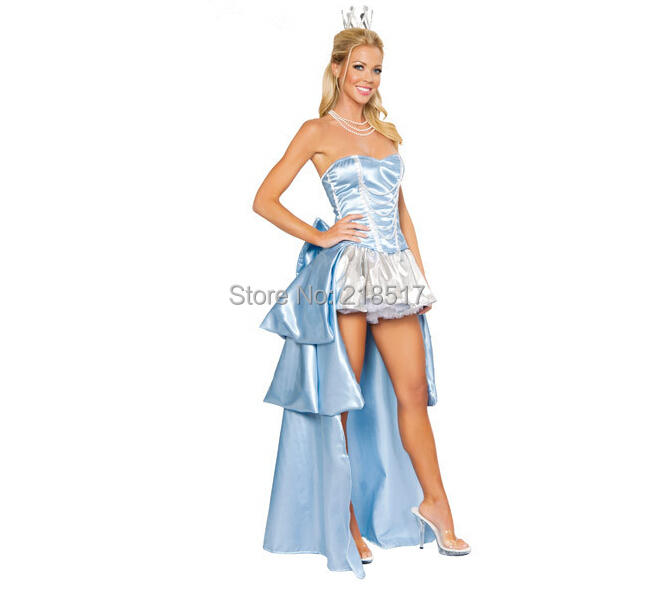 Original Princess Snow White Cinderella Dresses Costumes: Female Halloween Cosplay Costume Cinderella Dresses Snow