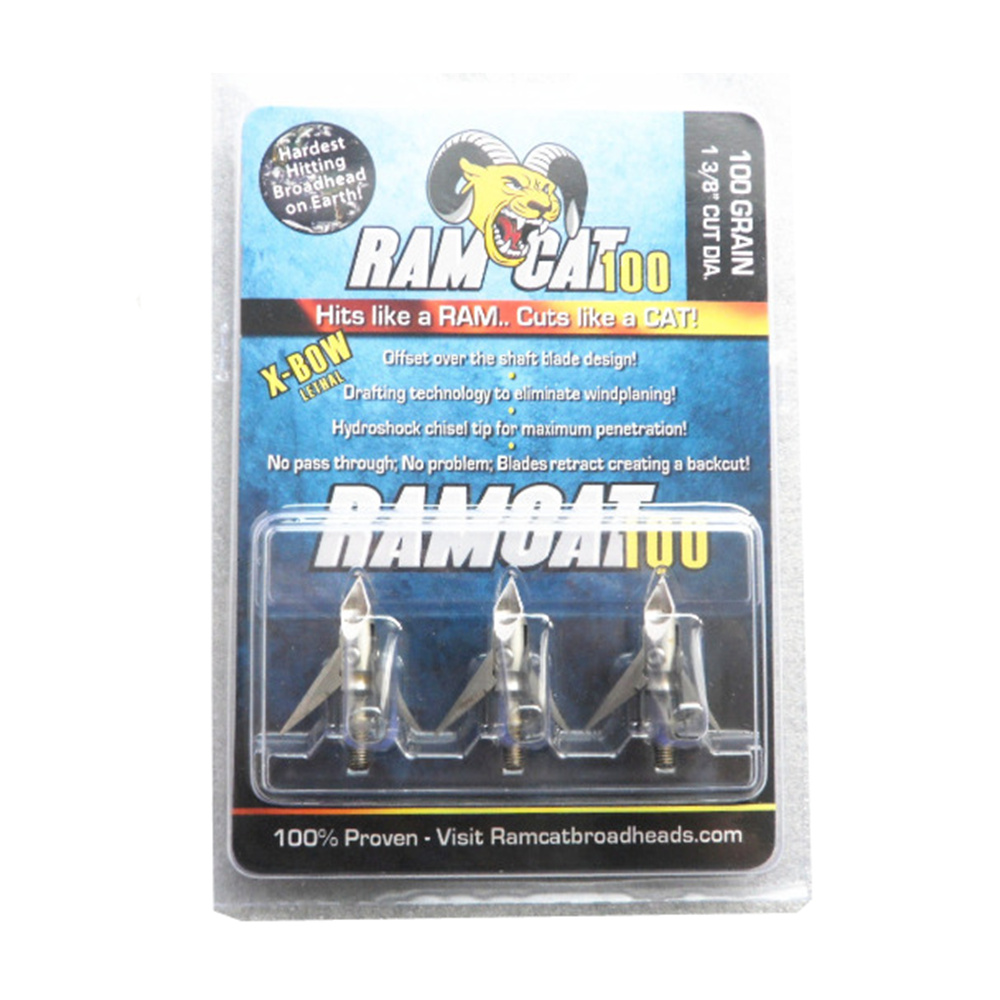 3Pcs Ramcat Arrow Broadheads 100 grain met 3 messen voor de jacht