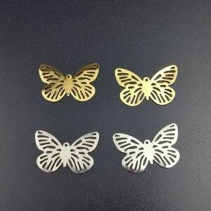 20 sztuk 18x28mm filigran butterfly złącza wyrób metalowy na prezent dekoracje DIY ustalenia