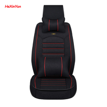 HeXinYan Universal Flax Car Seat Covers for Toyota all models mark auris prius camry corolla crown auris chr avensis rav4 wish цена 2017