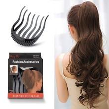 1Pc Ponytail Inserts Hair Clip Bun Maker Bouffant Volume Wedding Hair