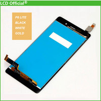 10PCS DHL High Quality LCD Display Digitizer Touch Screen Assembly For Huawei Ascend P8 Lite Black