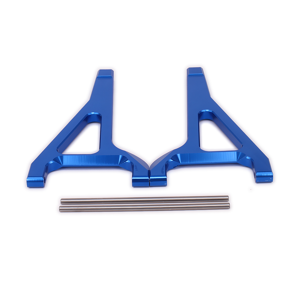2 PCS Front Upper Suspension Arm Pour Rc Hobby Voiture 1/10 Traxxas E-revo Sommet Slayer Maxx de Revo3.3 Alliage un-Bras ERO-007 5332 camion