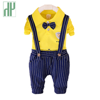 Boys Clothes Autumn Spring Kids Clothing Set 2pcs Cotton Shirt Stripe Pants Formal Children Clothing Girls