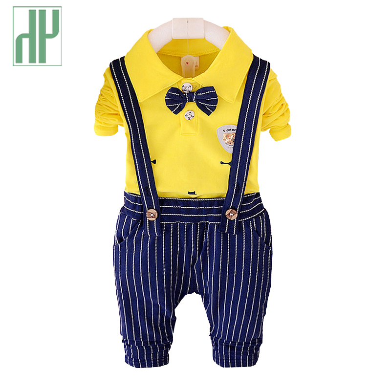 HH 1-4years Kids Boys clothes gentleman stripe Pants formal children clothing 2pcs sets girls summer clothes baby wedding suits gunsafe bs95 l43