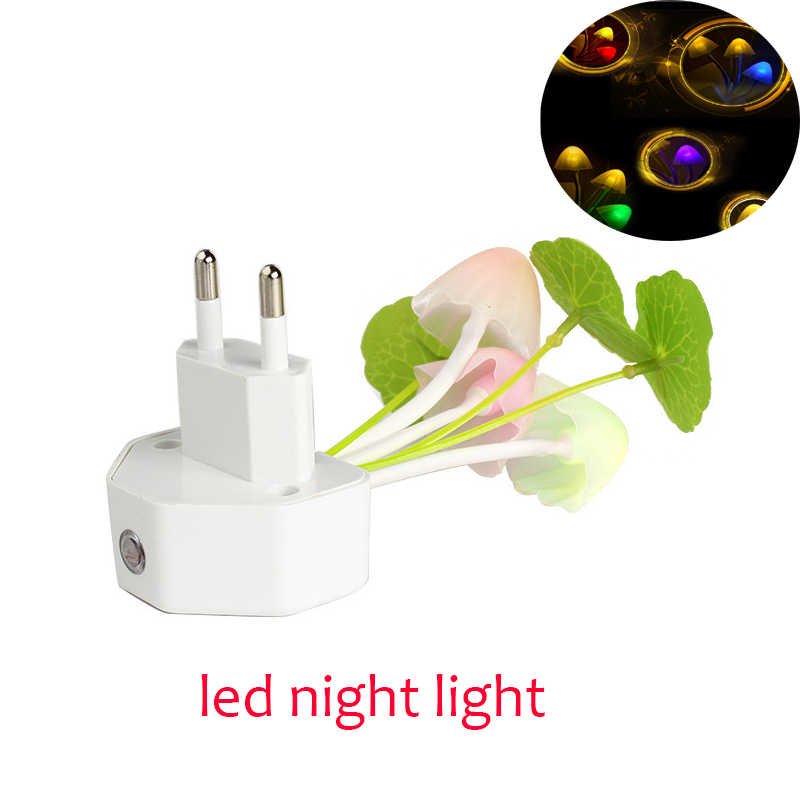 Mushroom led night light Sensor Night Lights 110V 220V EU US Plug Electric Induction nightlight children's night lamp luminaria