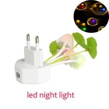 Mushroom led night light Sensor Night Lights 110V 220V EU US Plug Electric Induction nightlight children's night lamp luminaria