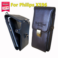 Men Genuine Leather Cell Phone Pouch Casual Ultra Thin Vertical Phone Case Phone Holder For Philips