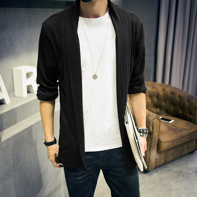 long cardigan men 2015 autumn new mens cardigans casual cardigan men slim  fit sweater sexy long tops,in Sweaters from Men\u0027s Clothing \u0026 Accessories on