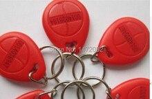 Free shipping!! many RFID tag is close to 100 PCS/ID tag tag key ring 125 KHZ to 125 KHZ RFID card is red/blue