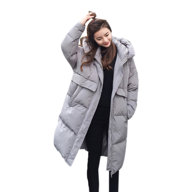 Warm Hooded Loose Fashion Padded Winter Jacket Large Size Thick Cotton Parka Coat Women Girls Korean Winter Jacket TT3185 winter loose bf large size padded jacket women hooded cotton warm coat parka long outerwear solid color women coat tt3249