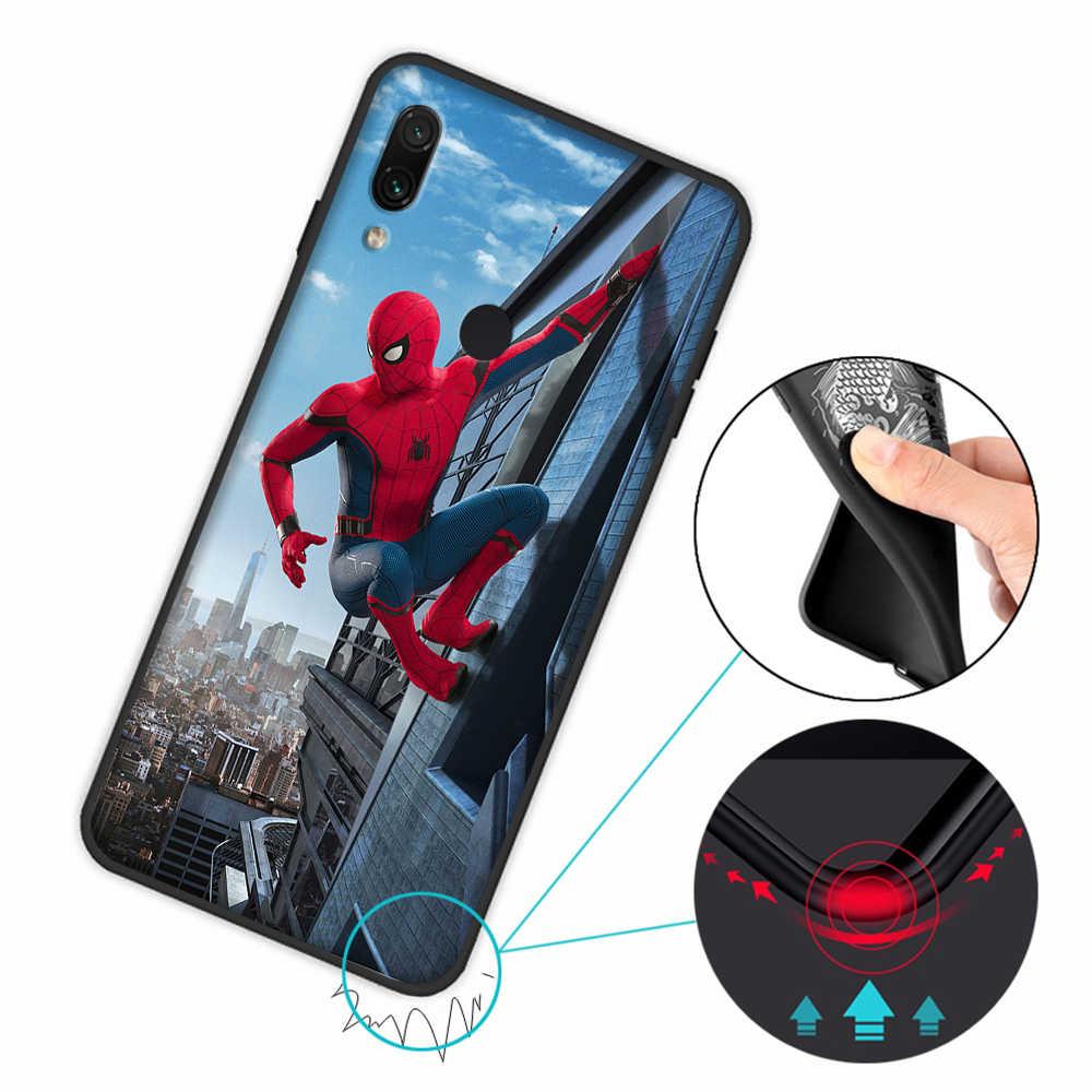 Örümcek-Adam Örümcek Adam Yumuşak Kapak Kılıf için Xiaomi Redmi Not 7 4 4X6 Pro 5 Artı 5A 6A Gitmek S2