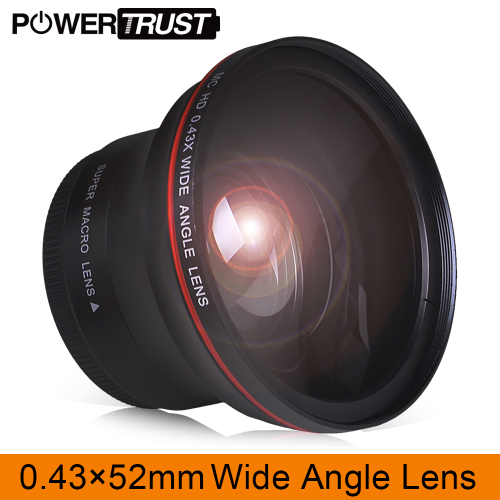 52MM 0.43x Professional HD Wide Angle Lens (w/Macro Portion) for Nikon D7100 D7000 D5500 D5300 D5200 D5100 D3300 DSLR Cameras image