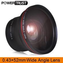 Objectif HD professionnel grand Angle 52MM 0,43x (avec partie Macro) pour appareils photo Nikon D7100 D7000 D5500 D5300 D5200 D5100 D3300 DSLR