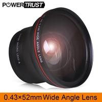 52MM 0.43x Professional HD Wide Angle Lens (w/Macro Portion) for Nikon D7100 D7000 D5500 D5300 D5200 D5100 D3300 DSLR Cameras
