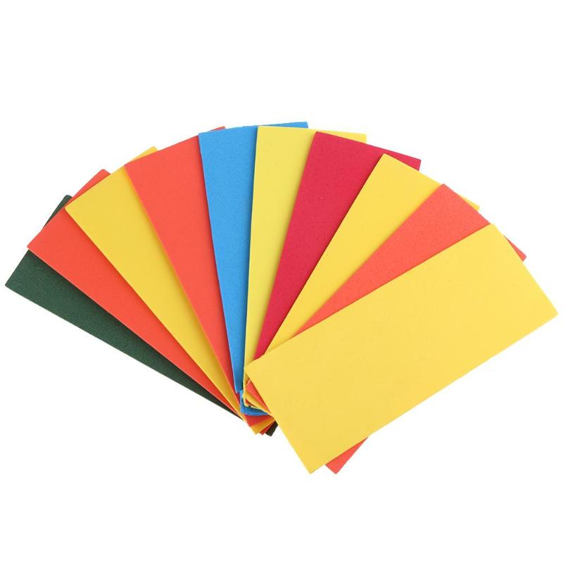 10pcs 2mm Colored EVA Fly Fishing Foam Sheets 10 Colors Fly Tying Foam Square Paper Handicraft DIY Materials For Fishing
