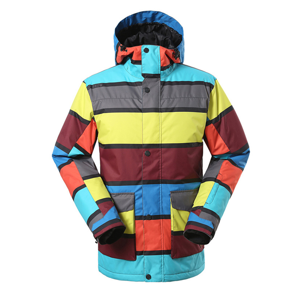 Prix pour 2017 Hommes D'hiver de Neige Manteaux Professionnel Ski Vestes Patchwork Coloré Snowboard Veste Chaleur Épaissir Imperméable Hommes de Vêtements de Ski