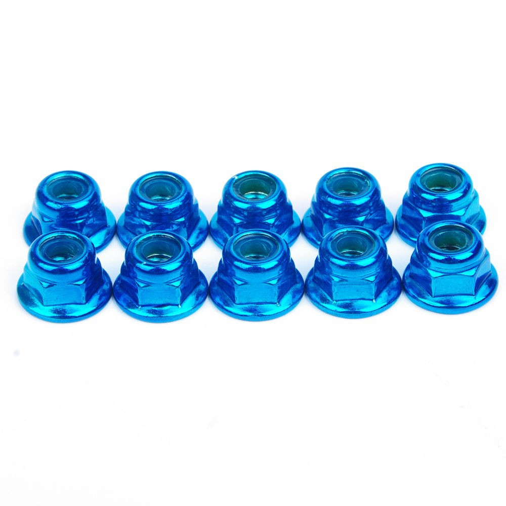 10PCS set Alloy Anti Loose Wheel Rim Lock Nuts Hexagon Locking Nut Blue HY00004B Fit 1