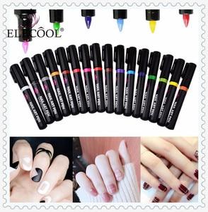 ELECOOL 1Pc Optional 3D Liquid Gliter Decoration Pull Pen Point UV Gel Design Painted Nail Art Line Pen More engage TSLM1(China)