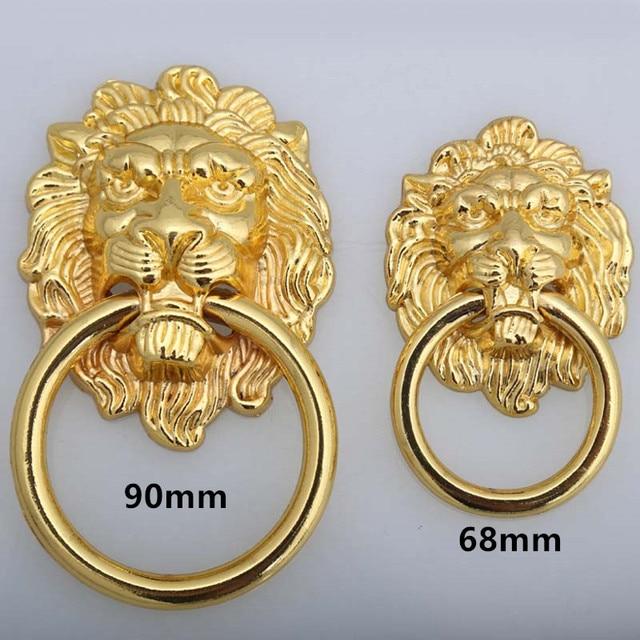 Gold Lionhead Schublade Schrank Knopfe Griffe 90mm 68mm Goldene