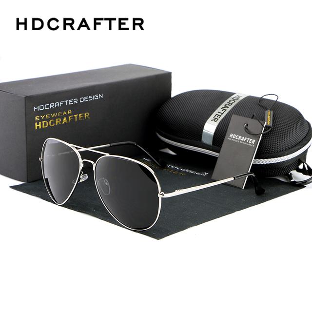 Design da marca Óculos De Sol Dos Homens Polarizados UV400 Coating Óculos de Sol Protegem Os Olhos do Google Piloto Atacado