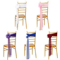 Wholesale 10pcs Set 70 14cm New Design Organza Chair Sash Bow Chair Cover For Banquet Wedding