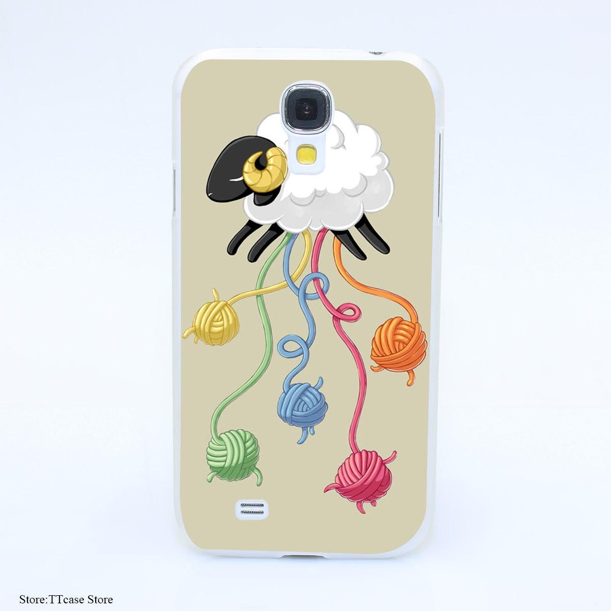 4127CA Wool Thread Hard Transparent Case Cover for Galaxy S2 S3 S4 S5 & Mini S6 S7 & edge Plus