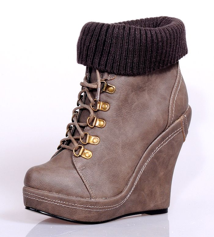 2012 women rock boots wedges boots lace up platform high heel PU leather martin boots for ladies plus size free shipping