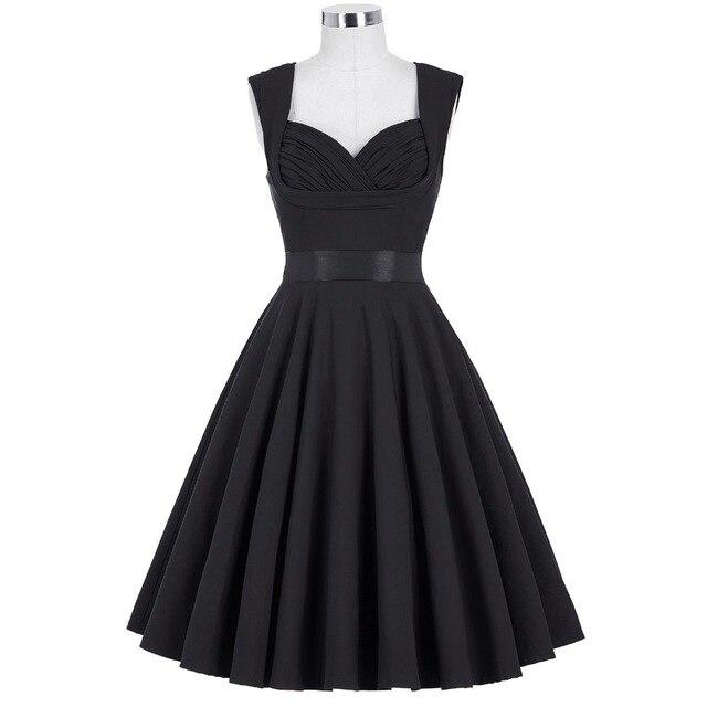 Moda mulheres summer dress vestidos retro 1950 s 60 s do vintage vestidos de audrey hepburn plus size rockabilly sexy partido balanço vestidos