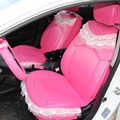 Charming lace Hot Pink Universal Car Seat Covers / Leather car Seat Covers