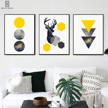 Minimalist Geometric Picture Sketch Of Deer Triangles Unframed Ins Style Posters Painting Wall Art Print For Room Decor