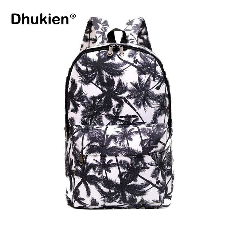 Hot Sales Mens Backpacks Women Shoulder Bag Canvas Printing Backpack Schoolbag Graffiti  ...