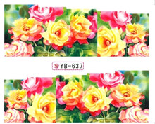 Nail Sticker Water Transfer Stiker Nail Decals FLORAL KRISAN OSMANTHUS SWEET-SCENTED YB637-648(China)