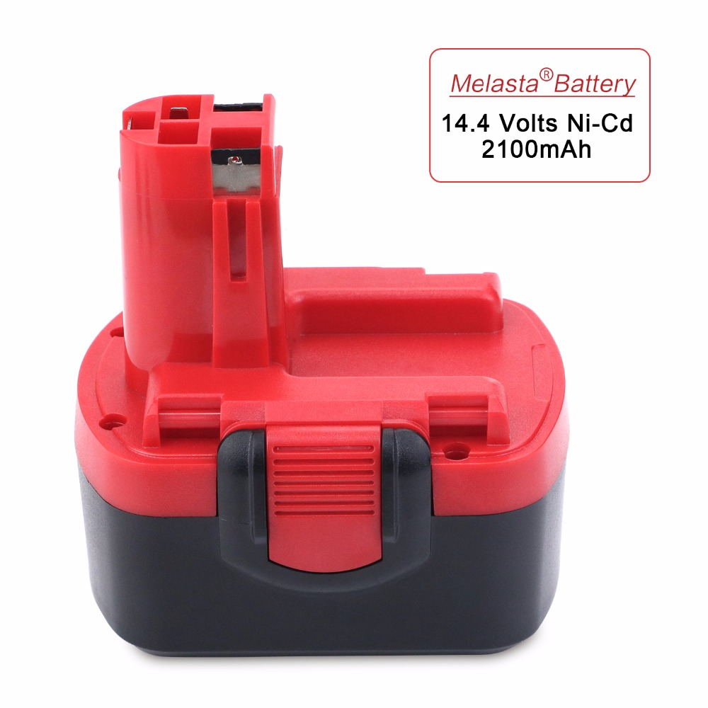 Melasta 14.4V 2100mAh Ni-Cd Rechargeable Battery for Bosch Cordless Power Tool Battery BAT043 BAT045 BAT049 2 607 335 273 new 24v ni mh 3 0ah replacement rechargeable power tool battery for bosch bat299 bat240 2 607 335 637 bat030 bat031 gkg24v