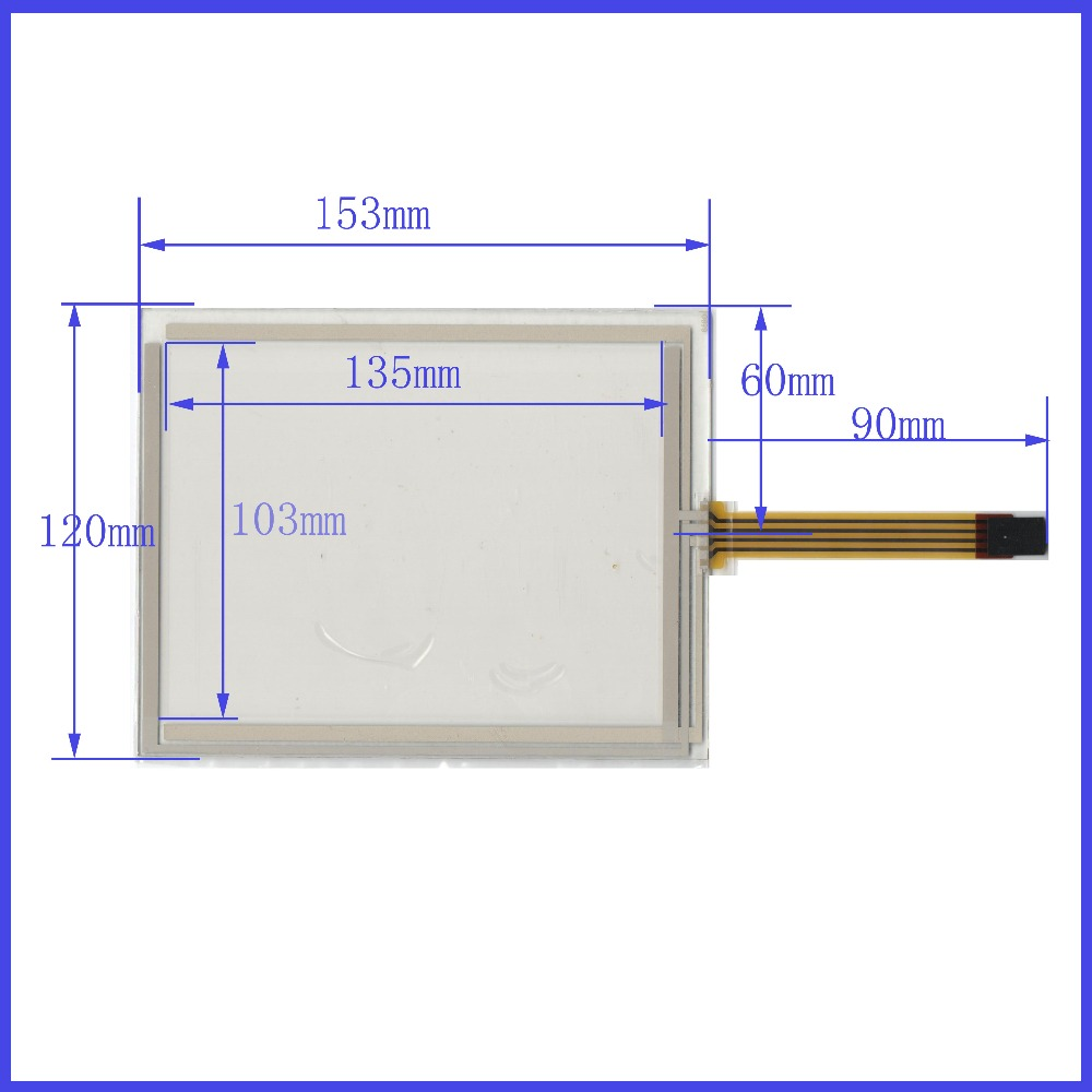 ZhiYuSun New 6.4 Inch Touch Screen 153mm*120mm 153*120 commercial use TR4-064F 04 for gps touch on PA064DS1 display zhiyusun 226 173 touch screen use lcd display and commercial new 226mm 17mm sensor 10 4 inch 4 wire