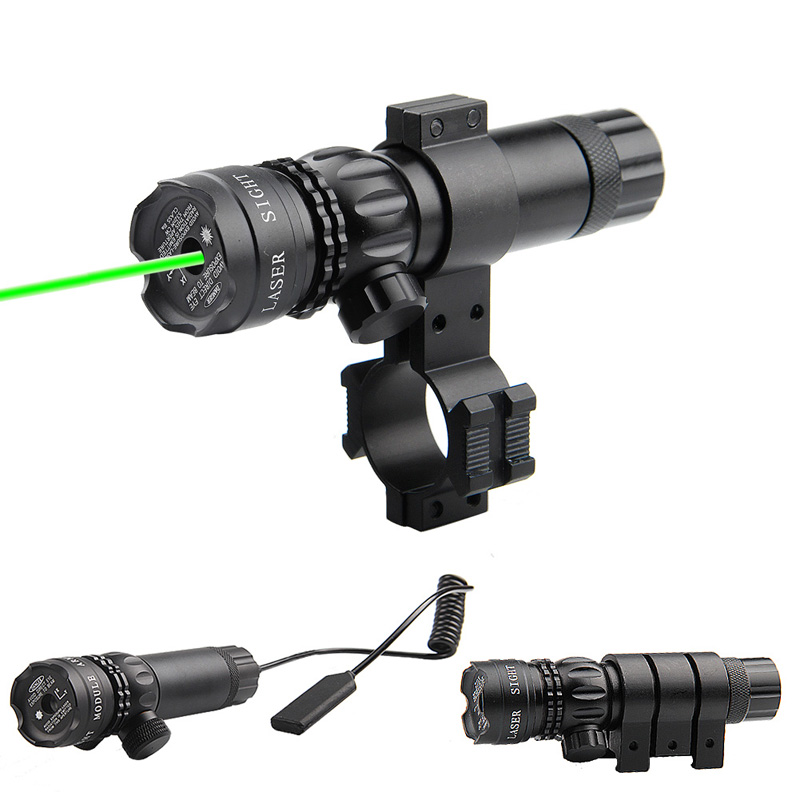 Adjustable Green Laser Sight With Mount & Remote Pressure Switch 3-1G-