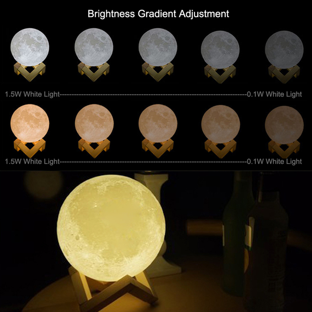ZINUO Rechargeable Moon Lamp Night Lamp 5