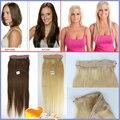 7A Unprocessed Brazilian Virgin Hair Straight Flip Hair Extension Human 1pc/set Hair Fish Line Flip in Hair Extension